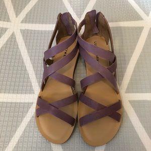 Lucky Brand Pink/Purple Leather Helenka Sandals